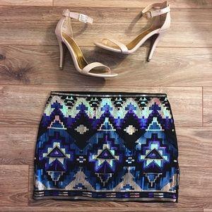 Express | Sequin Mini Skirt